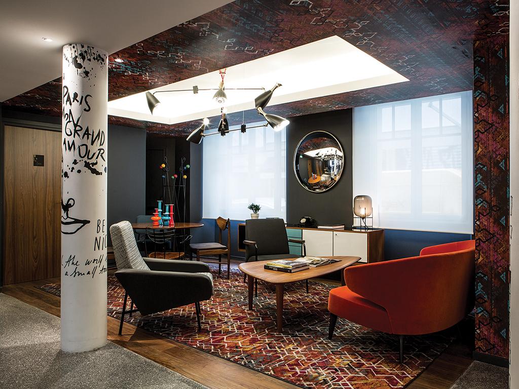 Le General Hotel, Paris, lounge area
