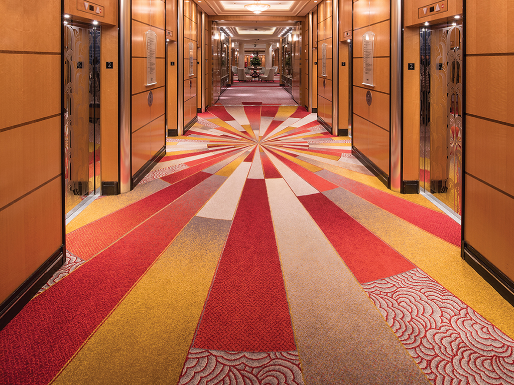 Queen Mary 2 - Lift lobby, Deck 2