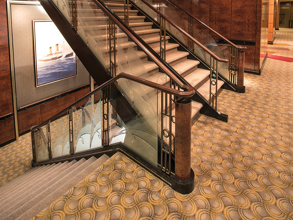 Queen Mary 2 - Stairways, Deck 3